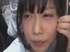 バスでパイパン女子大生に集団ぶっかけレイプ痴漢動画