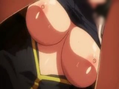 エロアニメ 言葉を失うほどの重量を誇るチチボリュームで強制吐精 ドォン...