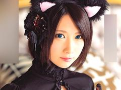 めちゃカワ! ! 顔立ちの整った美少女の萌え萌えネコ耳コスプレ姿でのえっち