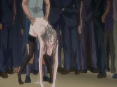 潜入失敗したスパイ美女は大勢の男の前で公開種付けレイプされエンドレス...