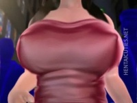 3Dエロアニメ むっちり爆乳お姉さんが悪い男に拘束されおっぱいを舐められる