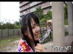 可愛い愛須心亜が和服姿でデートしてからホテルでセックスしちゃう