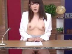 美人女子アナ生放送でマンコクンニされ公開セックスの羞恥刑ww