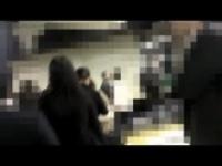 黒髪のかわいい女優に電車の中で痴漢する動画