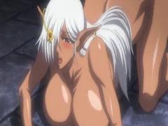 アニメ 爆乳エルフが醜いモンスターたちとアナルファック!