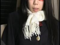 真面目そうな眼鏡っ娘JKの乳首とオマ○コをローター責め