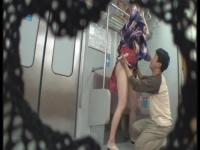 電車内まで再現した本格的なイメクラ店で巨乳娘との痴漢プレイ!