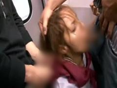 クララ マリア 超可愛いラテン系ハーフJKが電車で集団痴漢に遭い輪姦レイ...