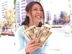 ザ マジックミラー 女子大生 現金で釣り、インタビュー中に予告無しデカチ...