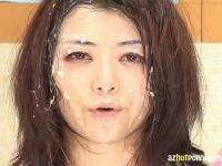 北条麻妃アナウンサーが本番中に顔がザーメンまみれになるエロ動画