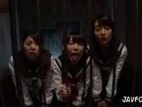 三つ編み女子校生を強制イラマチオで肉便器奴隷にするフェラ授業ww