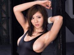 巨乳レオタード美女がフィットネスジムで運動中にインストラクターと濃密SEX!
