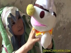 亜衣ちゃんがパペットで自己主張する精霊さんキャラに扮して可愛い声でエッチ