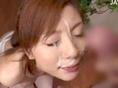 勃起してきた  爆乳お姉さんがパンパンのデカ亀頭を舐め回して顔射がエロ...