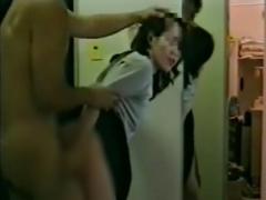 個人撮影 喧嘩中の妻がノコノコ帰宅したので...前戯なし! 即ハメ! 玄関の...