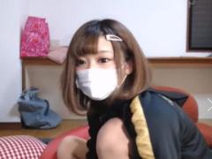 制服にジャージを羽織ったギャルJKが脱ぎ配信wwww ライブチャット動画