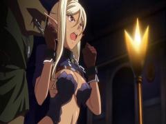 エロアニメ 褐色エルフ女戦士たちが敵ち○ぽで徹底的に陵辱プレイで堕ちる