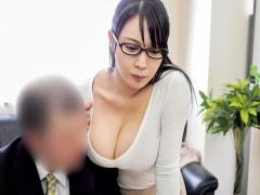 メガネ巨乳OLの着衣パイズリ×セックスがクソエロすぎる
