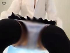 ライブチャット ツインテールの制服美少女がウェブカメラを跨いでパンツを...