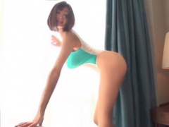 S級ボディの美脚キャンギャルがスケスケレオタードで凄テク濃厚セックス!
