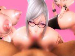 監獄学園 痴女JK2人に搾精 逆レイプ! 爆乳過ぎてエロ過ぎる3Dエロアニメ