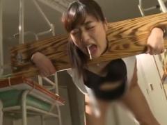 ギロチン台イラマチオ&跳び箱の上で犯される女教師! 拘束ファック
