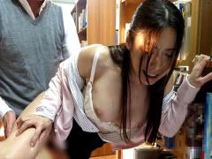 巨乳美熟女教師が図書室でレイプ! 声の出せない状況で沈黙の中犯され続け...