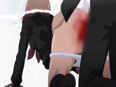 エロアニメ 指令はぜったい! 制服美少女が陵辱的水中中出しレイプで窒息寸前!