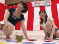 街行く素人女性2人組がパンチラ盛り沢山の泥酔ツイ○ターゲームに挑戦!