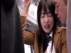 痴漢に中出しされた女子校生。バスの中で犯されてしまう