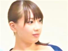 パソコン教室に学びに来た黒髪ポニーテール綺麗系美ボディー巨乳ギャル女...