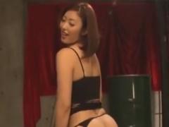 ドS痴女のペニバンアナル攻め手コキでメスイキさせられるM男動画