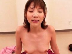 ショートカット美少女の激カワなお顔に汚いザーメンぶかっけ&ごっくんの嵐! !
