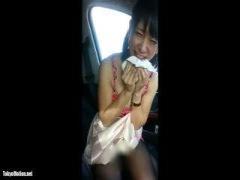 個人撮影 関西娘と車内でプチ援交! 恥ずかしがりながらも素人とは思えない...