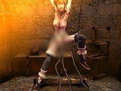 なによ、なに、これ ;^ω^ 張り付けられた美少女に襲いかかる、狂気の快楽拷問www