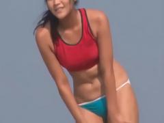 企画 砂浜にいた、日焼けあとが残るスポーツ女子を狙う鬼畜男 人がいない...