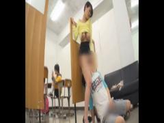 巨乳で美人な先生を襲うエロガキ生徒! 他の生徒にバレないようにこっそり...