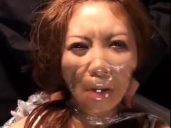 ドM×ギャル 沢尻エリカ風ギャルがラップ拘束され強制変顔陵辱、M字拘束鼻...