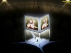 リングの巨大スクリーンに映されたSEX光景! 観客の前で犯されるなんて最悪...