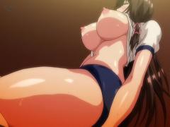 エロアニメ エンコーJKが体操着ブルマ姿でおじさんチンポに跨がり騎乗位素股