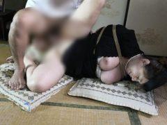 未亡人が義父の奴隷になり緊縛され凌辱レイプされる動画