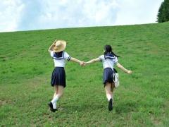 Jカップ女子校生コンビとデカマラ教育実習生のハメまくりのドライブデート