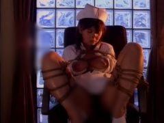 ロープ緊縛された白パンスト美人ナースが変態男に好き放題ハメられて肉便...