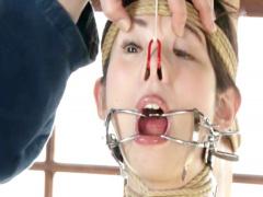 顔面崩壊M女 ディルドイラマ 閉口器具固定で臭っせえヨダレたれ流し調教…...