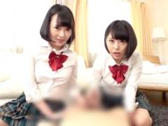 美少女jk姉妹が変態M男教師を逆3Pで嬉しそうにイジメる痴女動画