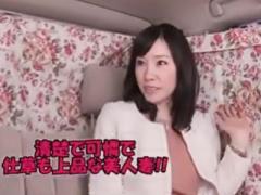 熟女ナンパ 中ダメよ~ 背景のお花がとても似合う上品セレブ妻! イケメン...