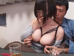 ムチムチ巨乳の友人の彼女とコタツで中出し寝取りセックス