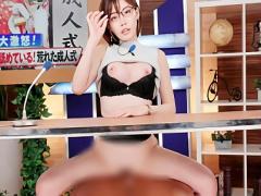 超絶カワイイ巨乳女子アナウンサーが淫語垂れ流しでお送りするニュース番...