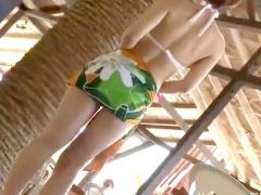 エロ水着のビッチギャルをビーチで調教種付け中出しレイプ