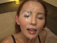 美女たちの可愛い顔をザーメンで汚す、総集編エロ動画!